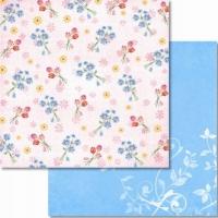 Premium Glitter Scrapbook paper Frühling 10