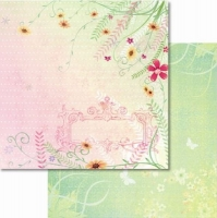 Premium Glitter Scrapbook paper Frühling 12