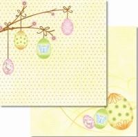 Premium Glitter Scrapbook paper Ostern 13
