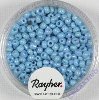 Rocailles 2,6mm ø opak gelüstert hellblau
