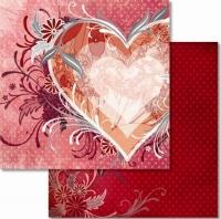 Premium Glitter Scrapbook paper Liebe 25