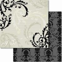 Premium Glitter Scrapbook paper Hochzeit 34