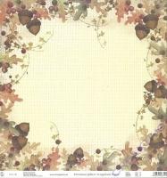 Premium Glitter Scrapbook paper Herbst 51