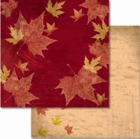 Premium Glitter Scrapbook paper Herbst 54