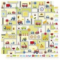 Scrapbooking Papier Transportation Streets (Restbestand)