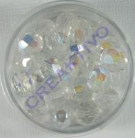 Glasschliffperle 8mm cristall AB 25 Stück