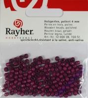 Rayher Holzperlen, poliert 4mm 150St lila