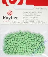 Rayher Holzperlen, poliert 4mm 150St hellgrün