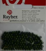 Rayher Holzperlen, poliert 4mm 150St grün