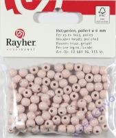 Rayher Holzperlen FSC, poliert 6mm 115St rosé