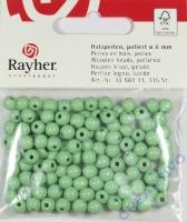 Rayher Holzperlen FSC, poliert 6mm 115St hellgrün
