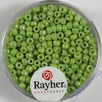 Rocailles 2,6mm ø opak gelüstert hellgrün