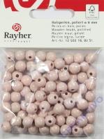 Rayher Holzperlen FSC, poliert 8mm 82St rosé