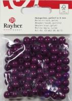 Rayher Holzperlen FSC, poliert 8mm 82St lila