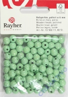 Rauher Holzperlen FSC, poliert 8mm 82St hellgrün