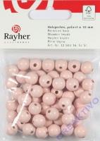 Rayher Holzperlen FSC, poliert 10mm 52St rosé