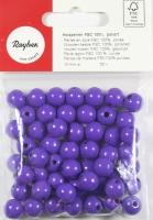 Rayher FSC Holzperlen, poliert 10mm 52St lila