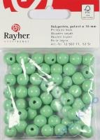 Rayher Holzperlen FSC, poliert 10mm 52St hellgrün