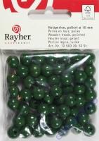 Rauher Holzperlen FSC, poliert 10mm 52St grün
