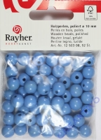 Rayher Holzperlen FSC, poliert 10mm 52St hellblau