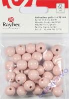 Rayher Holzperlen FSC, poliert 12mm 32St rosé