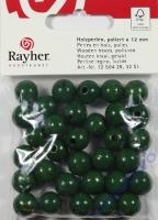 Rayher Holzperlen FSC, poliert 12mm 32St grün