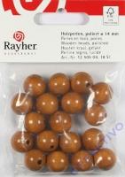 Rayher Holzperlen FSC, poliert 14mm 18St mittelbraun