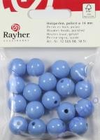 Rayher Holzperlen FSC, poliert 14mm 18St hellblau