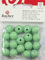 Rayher Holzperlen FSC, poliert 14mm 18St hellgrün