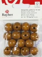Rayher Holzperlen FSC, poliert 16mm 15St mittelbraun