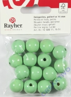 Rayher Holzperlen FSC, poliert 16mm 15St hellgrün