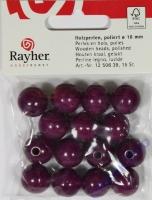 Rayher Holzperlen FSC, poliert 16mm 15St lila