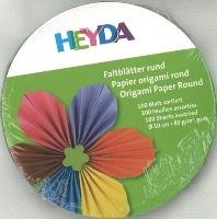 Faltblätter rund 10 cm 100 Blatt farbig sortiert