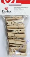 Holzwäscheklammern 4,5cm 24 Stück natur