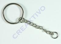 Rayher Schlüsselanhänger 25mm Ring 4cm Kette