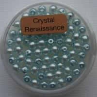 Crystal Renaissance Perlen 4mm hellblau