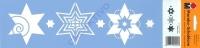 Marabu Schablone 10x33cm Modern stars