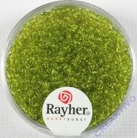 Rocailles 2 mm ø transparent hellgrün