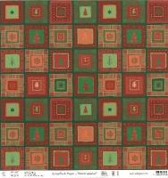 Scrapbook paper Winterzauber rot/grün 190g/qm Motiv 01