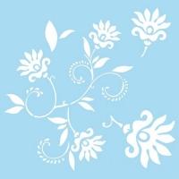 Marabu Schablone 33x33cm Dancing Flowers