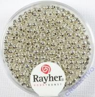 Plastik Rundperle 240St. 2,5mm silber