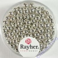 Plastik Rundperle 150St. 4mm silber