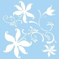 Marabu Schablone 33x33cm Flower Arts