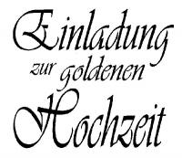 Knorr Stempel Einladung goldene Hochzeit