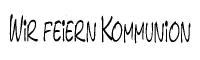 Knorr Stempel Wir feiern Kommunion