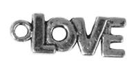 Rockstars Metall-Anhänger Love 17mm Öse 2mm