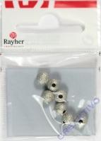Rayher Diamantierte Perle 6mm 7 Stück
