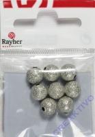 Rayher Diamantierte Perle 8mm 8 Stück