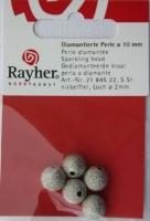 Rayher Diamantierte Perle 10mm 5 Stück