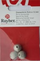 Rayher Diamantierte Perle 12mm 3 Stück